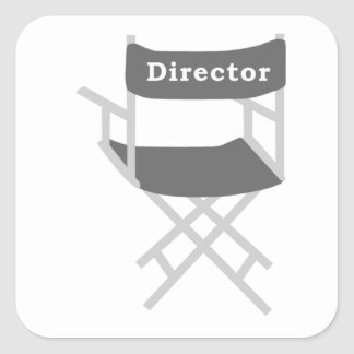 Director's Chair Square Sticker