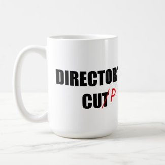 Director's Cup (Right Handed) Classic White Coffee Mug