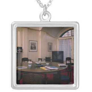 Director's Room Silver Plated Necklace