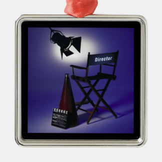 Director's Slate, Chair & Stage Light 2 Christmas Tree Ornaments