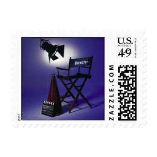 Director's Slate, Chair & Stage Light 2 Postage Stamp
