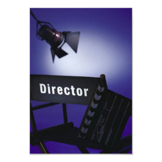 Director's Slate, Chair & Stage Light 3.5x5 Paper Invitation Card