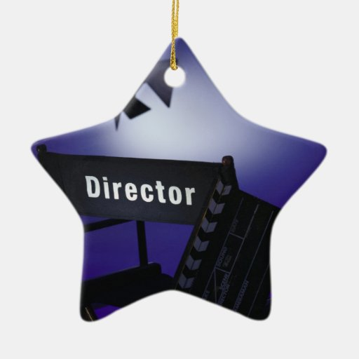 Director's Slate, Chair & Stage Light Christmas Ornaments