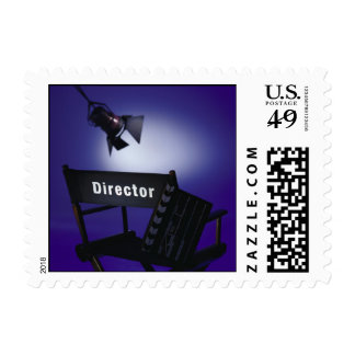 Director's Slate, Chair & Stage Light Postage Stamps