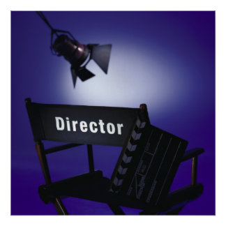 Director's Slate, Chair & Stage Light Poster