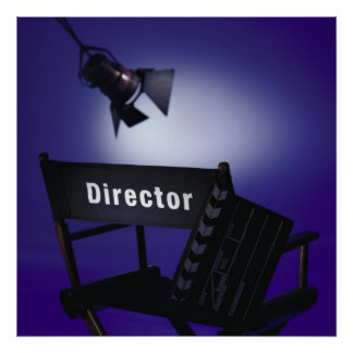 Director's Slate, Chair & Stage Light Posters