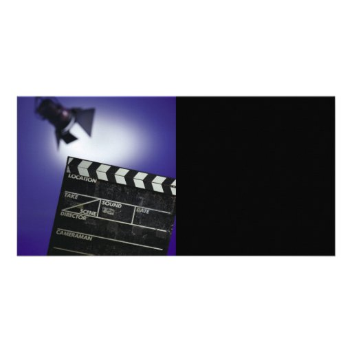 Director's Slate & Stage Light Custom Photo Card