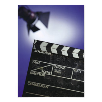 Director's Slate & Stage Light 4.5x6.25 Paper Invitation Card