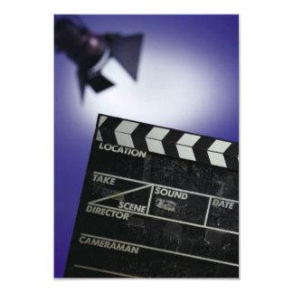Director's Slate & Stage Light 3.5x5 Paper Invitation Card