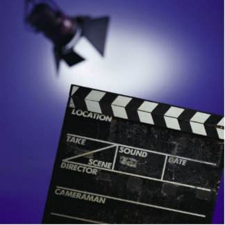 Director's Slate & Stage Light Acrylic Cut Outs