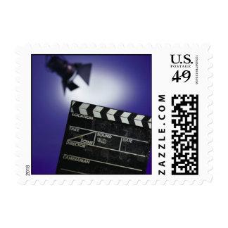Director's Slate & Stage Light Postage Stamp