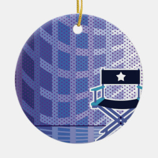 Director's / Star Chair vector Ceramic Ornament