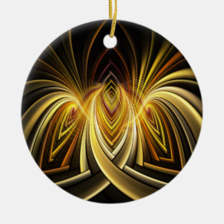 Directory Fractal Double-Sided Ceramic Round Christmas Ornament