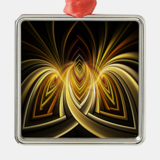 Directory Fractal Square Metal Christmas Ornament