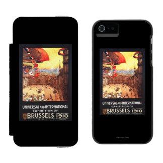 Dirigible de Lebaudy con las banderas del mundo en Funda Billetera Para iPhone 5 Watson
