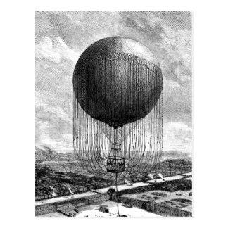 Dirigible del globo del Victorian del vintage Tarjeta Postal