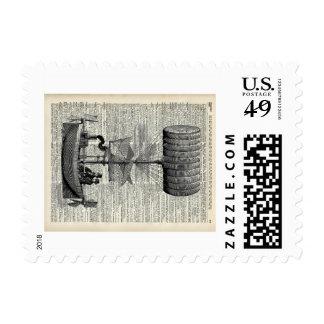 Dirigible del impulso del vintage sellos