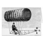 Dirigible del vintage/dirigible del dirigible no r tarjetas
