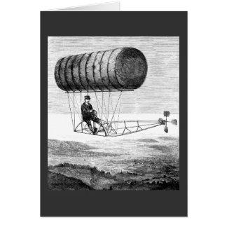 Dirigible del vintage/dirigible del dirigible no r felicitaciones