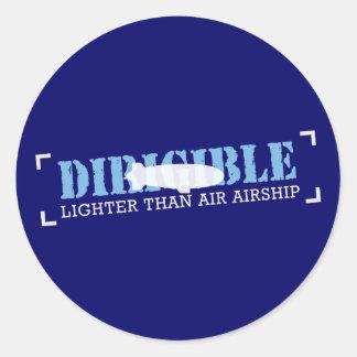 Dirigible Lighter Than Air Airship Classic Round Sticker