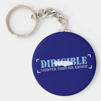 Dirigible Lighter Than Air Airship Keychain