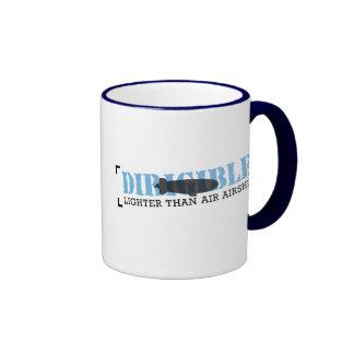 Dirigible menos pesado que el aire dirigible tazas de café