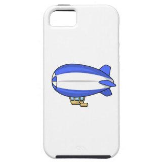 Dirigible no rígido azul y blanco del dibujo iPhone 5 Case-Mate cobertura