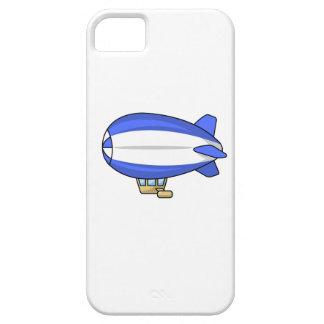 Dirigible no rígido azul y blanco del dibujo iPhone 5 fundas