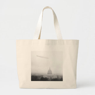 Dirigible Over D.C., 1920s Canvas Bag