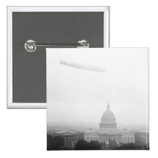 Dirigible Over D.C., 1920s Pins