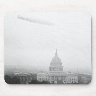 Dirigible Over D.C., 1920s Mouse Pad