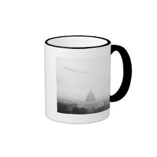Dirigible Over D.C., 1920s Mugs