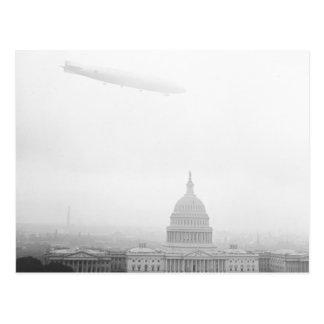 Dirigible Over D.C., 1920s Postcards