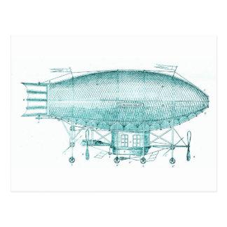 dirigible postcard