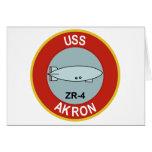 DIRIGIBLE RÍGIDO DE LA CLASE DE USS AKRON ZR-4 TARJETA DE FELICITACIÓN