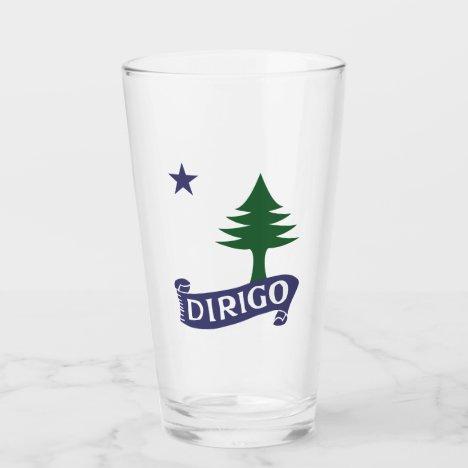 Dirigo / 1901 Maine Flag Glass