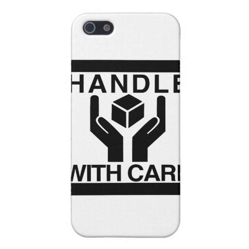 Dirija con el logotipo negro básico del cuidado iPhone 5 protectores