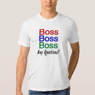 Dirija cualquier pregunta camisas