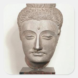 Dirija de una estatua del Buda, de Pegatina Cuadrada
