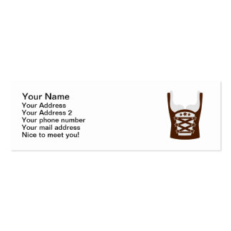Dirndl Oktoberfest Double-Sided Mini Business Cards (Pack Of 20)