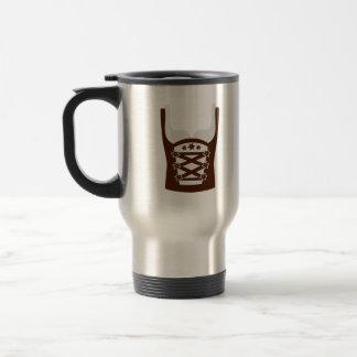 Dirndl Oktoberfest 15 Oz Stainless Steel Travel Mug