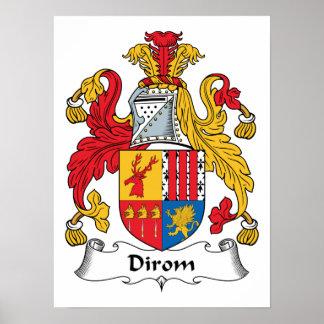 Dirom Family Crest Poster