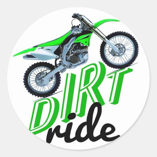 Dirt addict classic round sticker