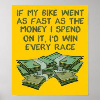 Dirt Bike As Fast As Money Funny Motocross Poster