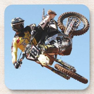 Dirt bike beverage coasters