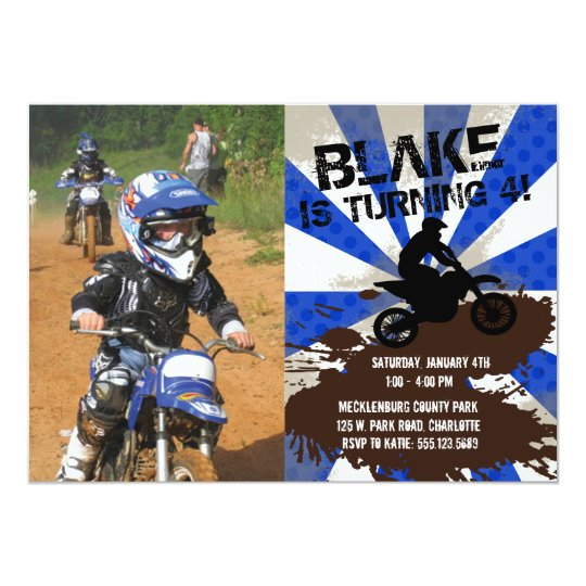 Dirt bike birthday invitation zazzle dirt bike birthday invitation filmwisefo