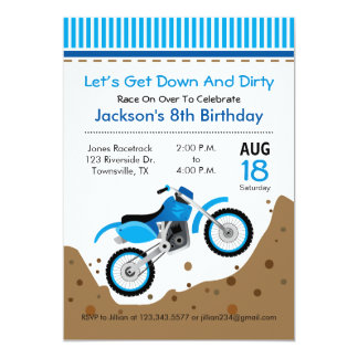 Dirt Bike Birthday Party Invitation