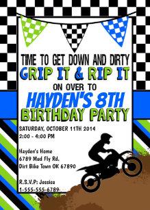Dirt bike birthday party invitations announcements zazzle dirt bike birthday party invitation filmwisefo
