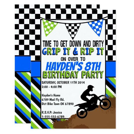 Dirt bike birthday party invitation zazzle dirt bike birthday party invitation filmwisefo