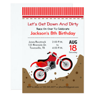 Motorcycle Birthday Invitations & Announcements | Zazzle